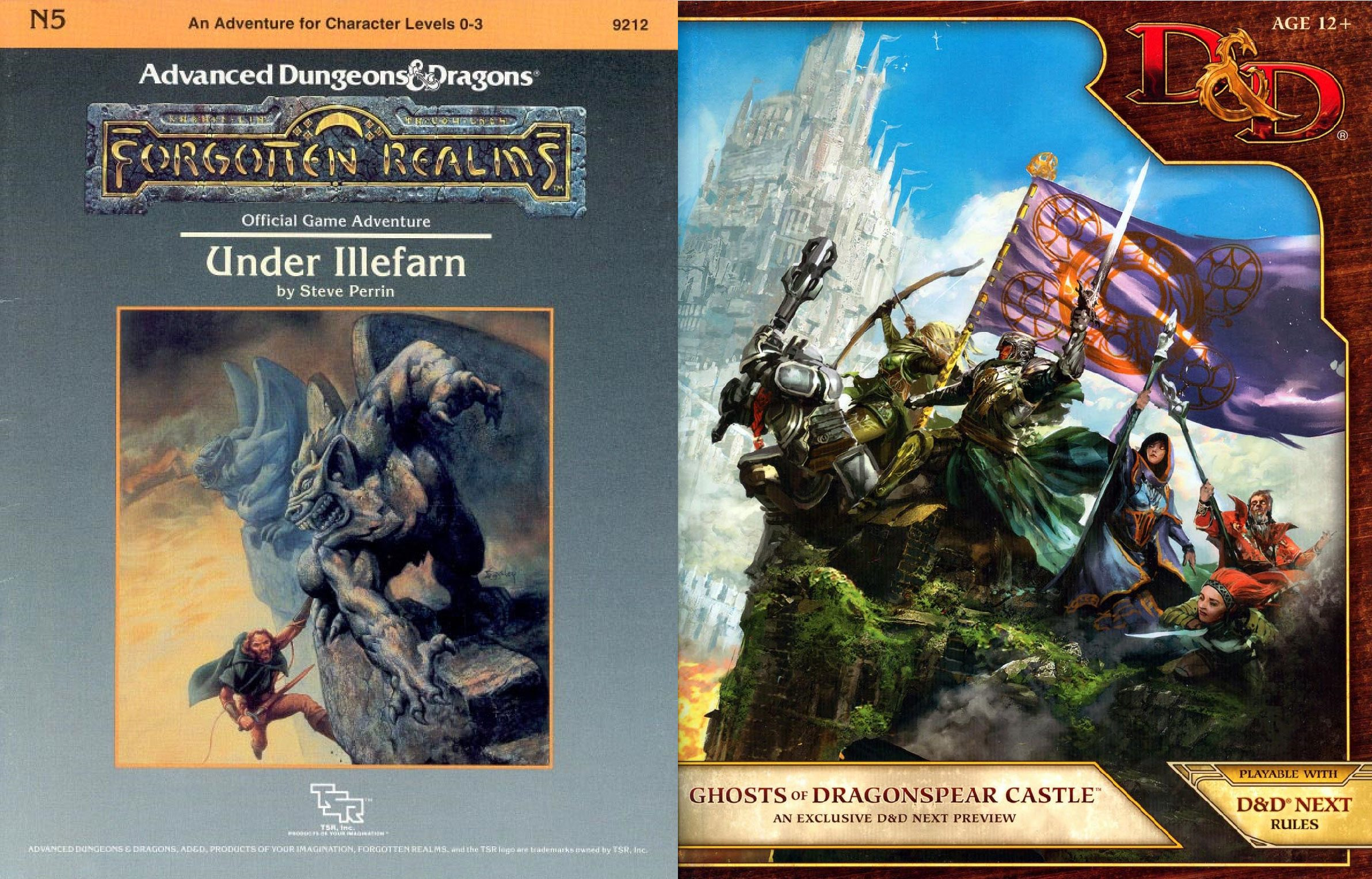 From 1E Under Illefarn to 5E Ghosts of Dragonspear Castle and Beyond