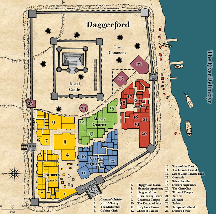 Daggerford: a Town in Forgotten Realms on the Sword Coast