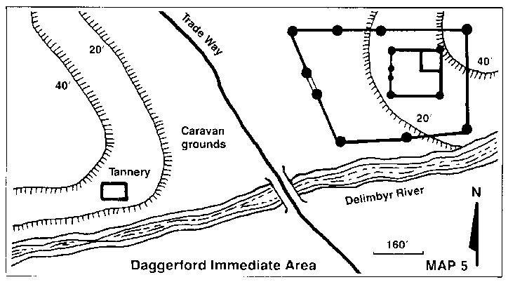 Daggerford Immediate Area Under Illefarn Map 5 for Forgotten Realms Adventure Module