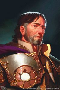 Sir Isteval Portrait Retired paladin of Amaunator veteran dragon slayer living Daggerford