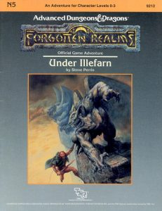 Under Illefarn AD&D Advanced Dungeons and Dragons 1st First Edition TSR N5 9212 Adventure Module Cover