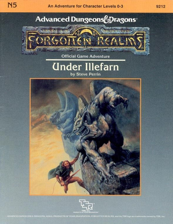 Under Illefarn Book Cover Official Game Adventure by Steve Perrin for Forgotten Realms Advanced Dungeons & Dragons for Character levels 1-31