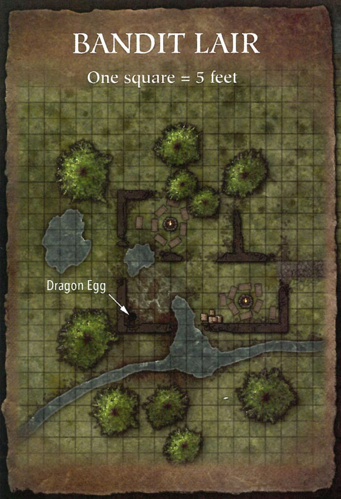 Bandit Lair Map Overhead with Grid Lizard Marsh Fane of the Sun Swallower D&D Next Preview Ghosts of Dragonspear Castle 5E Adventure Module