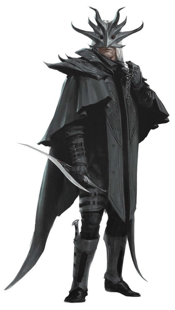 Dragonclaw Cultist Cult of the Dragon black cape mask Hoard of the Dragon Queen Adventure Module for Dungeons and Dragons D&D DND 5th Edition 5E