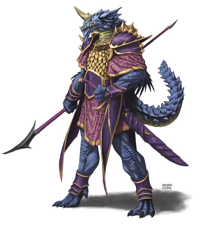 Langdedrosa Cyanwrath blue half-dragon champion Cult of the Dragon in Hoard of the Dragon Queen Adventure Module for Dungeons and Dragons D&D DND 5th Edition 5E