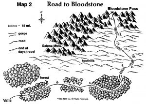 Road to Bloodstone Map TSR 9122 H1 Bloodstone Pass-11