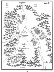 Valley of Bloodstone Players Map TSR 9122 H1 Bloodstone Pass-13