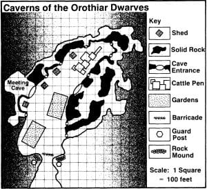 Caverns of the Orothiar Dwarves Clan in Bloodstone Pass near Bloodstone Village from Adventure Module H2 The Mines of Bloodstone