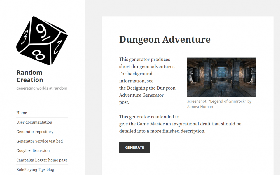 Dungeon or Adventure Generator