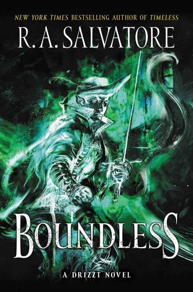 Boundless a Drizzt Novel by R. A. Salvatore Book 2 in Drizzt Generations Trilogy Cover Jarlaxle Baenre